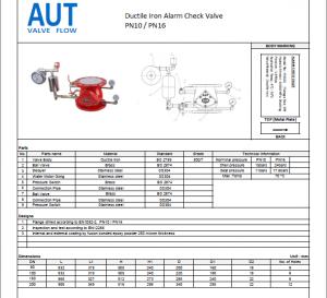 Catalog Van báo động AUT-Alarm Valve AUT